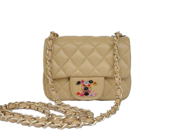 7A Replica Cheap Chanel mini Flap Bag 11725 Apricot